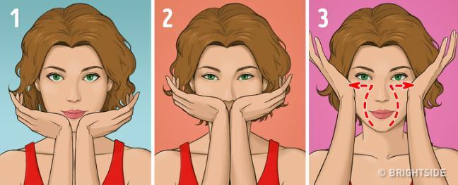 Hoc cach massage mat kieu Nhat trong 5 phut moi ngay de loai bo nep nhan va co lan da dep nhu phu nu Nhat Ban