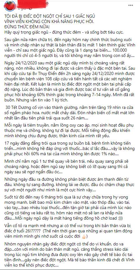 Toi da bi diec chi sau 1 giac ngu, vinh vien khong co kha nang hoi phuc - Dung thuc dem nua!